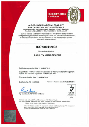 ISO 9001 Certified Company – | Facility Management